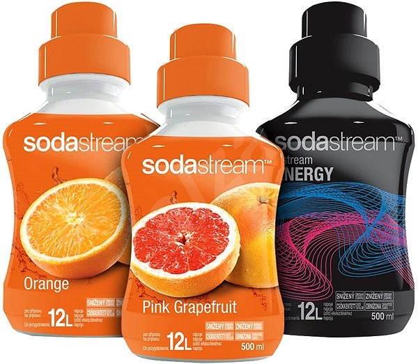 SodaStream 500ml 2+1 (Pomeranč, R. Grep, Energy) - Příchuť