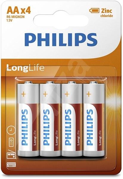 Philips R6L4B 4 ks v balení - Jednorázová baterie