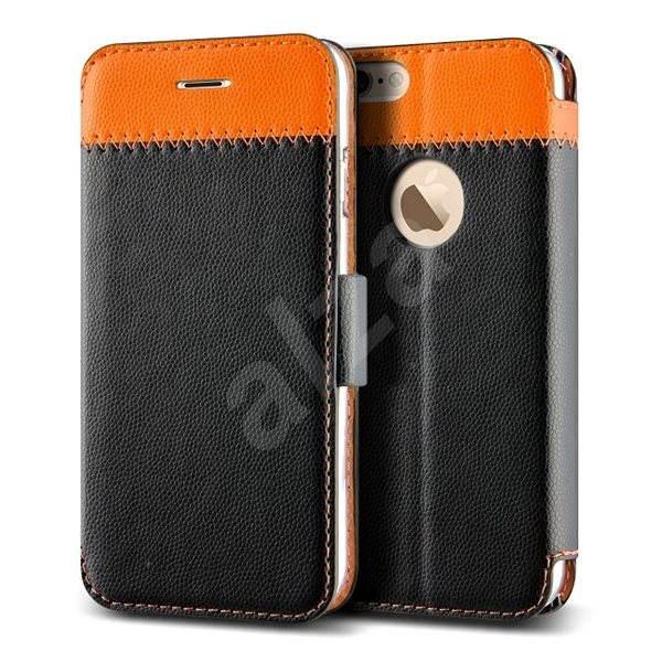 Verus Vivid Klop Diary černo/oranžové - Pouzdro na mobilní telefon