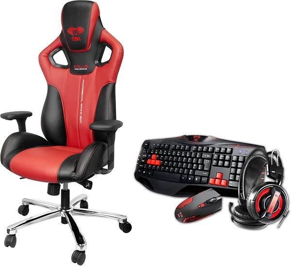 496a8ca93781 E-Blue Cobra červená - Herní židle