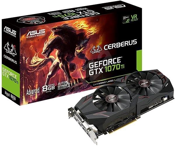 ASUS CERBERUS GeForce GTX 1070Ti Advanced Edition 8GB - Grafická karta