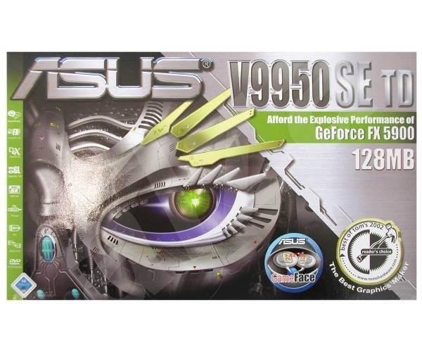 ASUS AGP-V9950SE 128MB, NVIDIA GeForce FX-5900 AGP8x DVI -