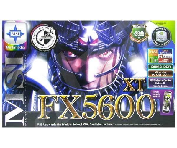 MSI MS-8912 (FX5600XT-VTDR128) NVIDIA GeForce FX-5600XT 128 MB DDR VIVO DVI Rem. cntrl. -