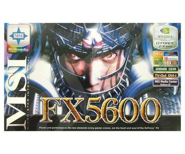 MSI MS-8912 (FX5600-TD128) NVIDIA GeForce FX-5600 128 MB DDR AGP8x DVI -