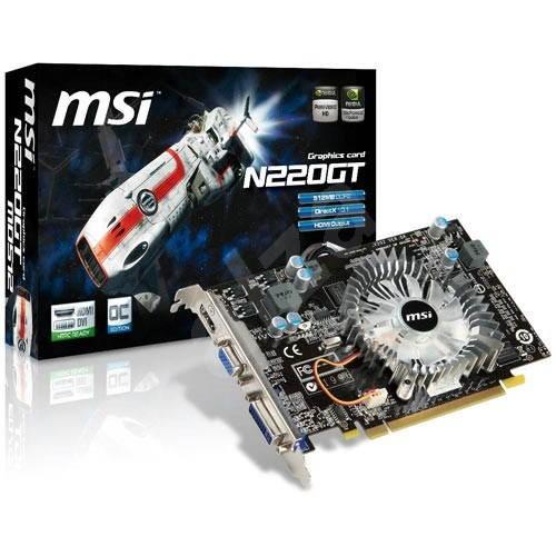 MSI N220GT-MD512 - Grafická karta