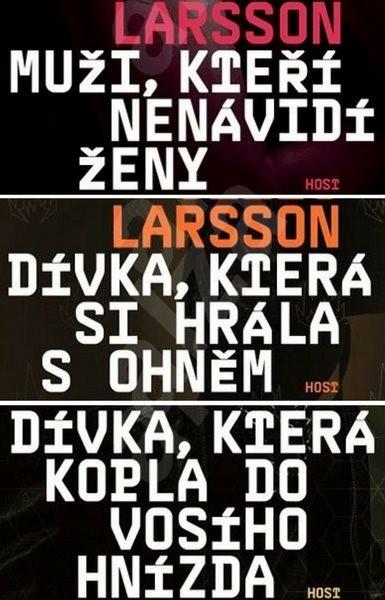 Trilogie Milénium za výhodnou cenu - Stieg Larsson