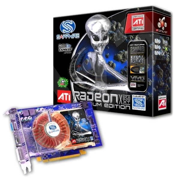 ATI (Sapphire) Radeon X850XT Platinum, 256 MB DDR3, PCIe x16, VGA/ 2xDVI// VIVO - Grafická karta