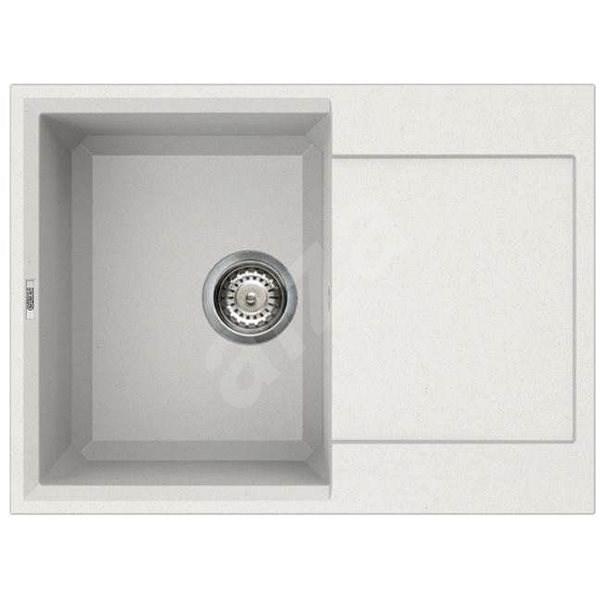 ELLECI EASY 135 Bianco titano/Granitek - Granitový dřez