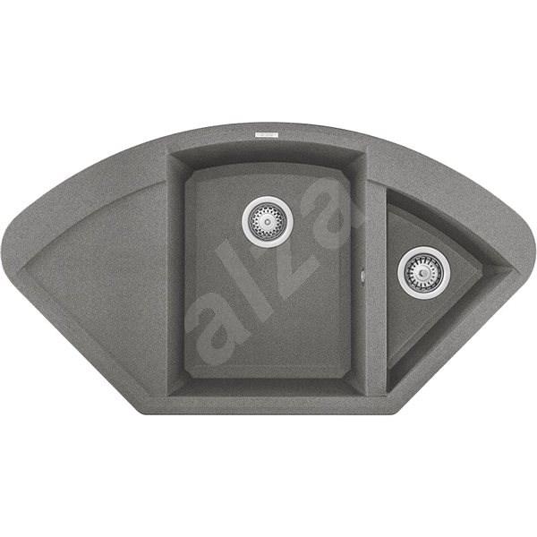 ELLECI EASY CORNER G48  - Granitový dřez