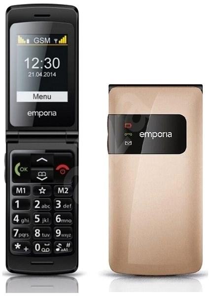 Emporia FLIP Basic zlatý - Mobilní telefon