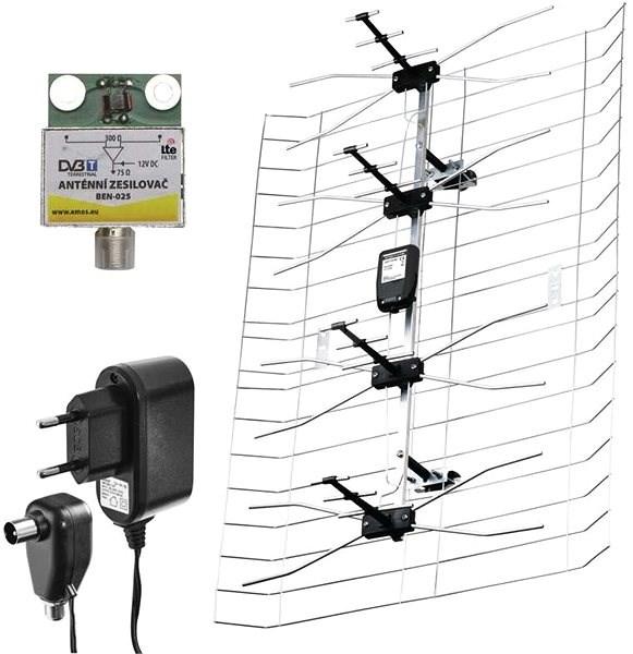 EMOS ASP-25 LTE DVB-T2 - Televizní anténa