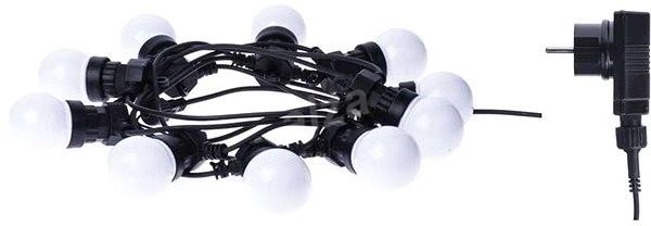 EMOS LED Light Chain - 10 × Party Milky Bulbs, 5m, Warm White - Christmas Chain Lights