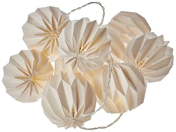 EMOS LED vánoční girlanda – 10× žluté pap. koule, 2×AA, teplá bílá, čas. - Dekorace