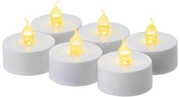 EMOS LED Christmas Decorations - Tea Candles, white, 6, CR2032 - Christmas Lights