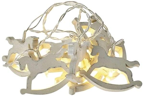 LED vánoční girlanda – koně, 2x AA, teplá bílá, časovač - Dekorativní osvětlení