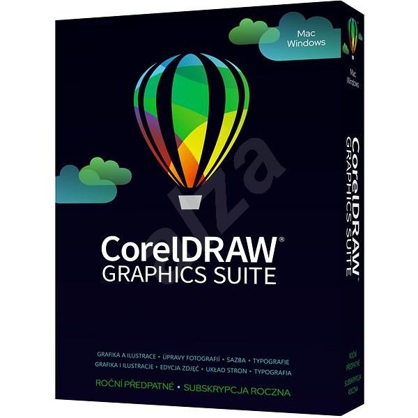 CorelDRAW Graphics Suite předplatné na 1 rok pro jednoho uživatele (elektronická licence) - Elektronická licence