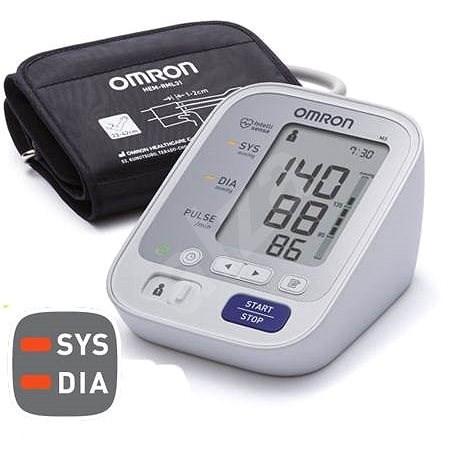 OMRON M3 s barevným indikátorem hypertenze - Tlakoměr