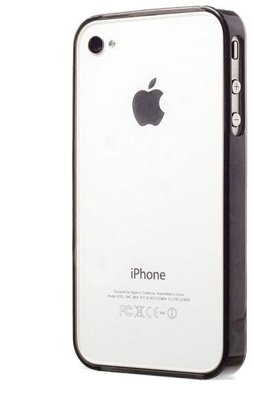 Epico tenký plastový rámeček pro iPhone 4 4S černý transparentní - Rámeček 4276de49497