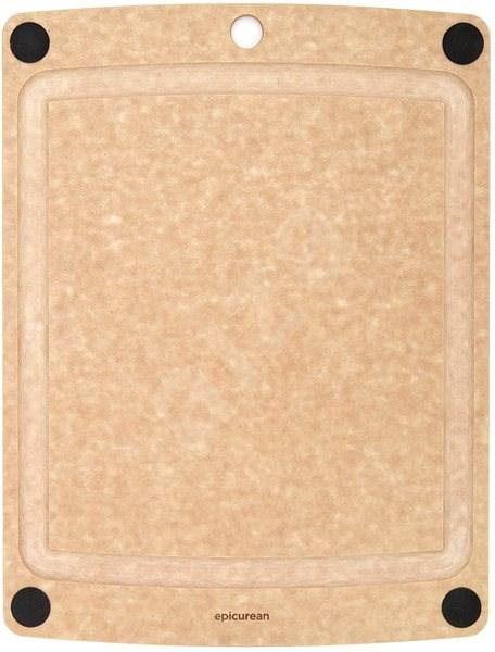 EPICUREAN Prkénko s protiskluzem 39x28 cm natural  - Prkénko