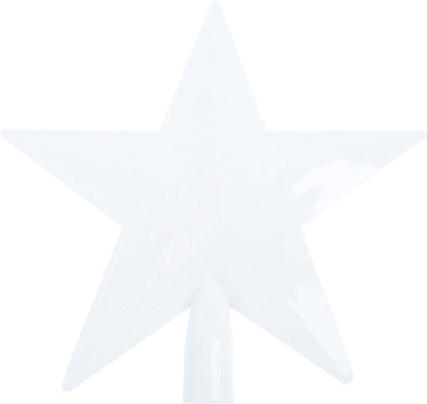 Špice hvězda bílá - Vánoční ozdoby