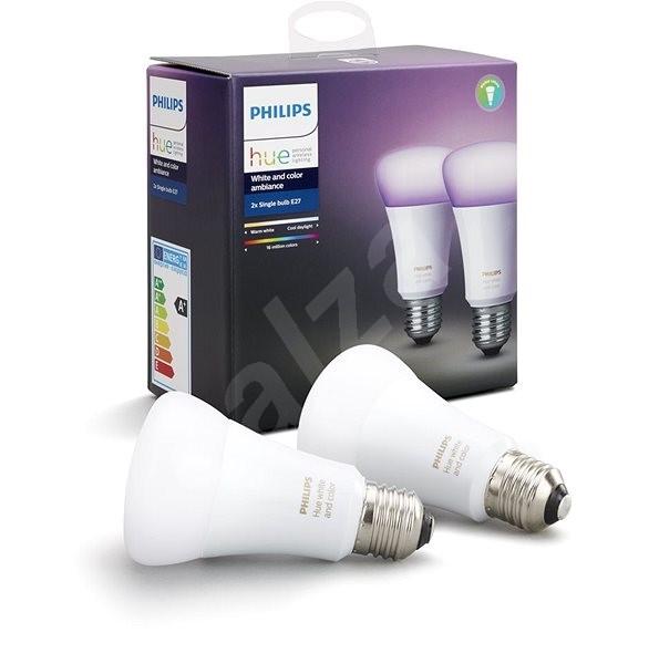 Philips Hue White and Color ambiance 10W E27 set 2ks - LED žárovka