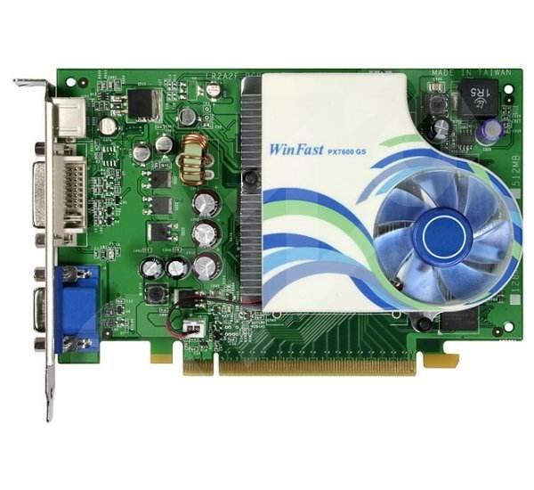 Leadtek WinFast PX7600GS TDH, 256MB DDR2 (700MHz), NVIDIA GeForce 7600GS (490MHz), PCIe x16, 128bit, - Grafická karta