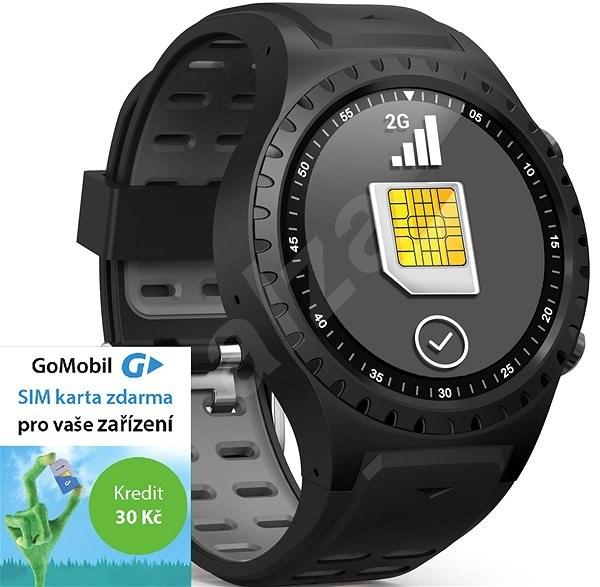 EVOLVEO SportWatch M1S Black Grey, SIM - Chytré hodinky
