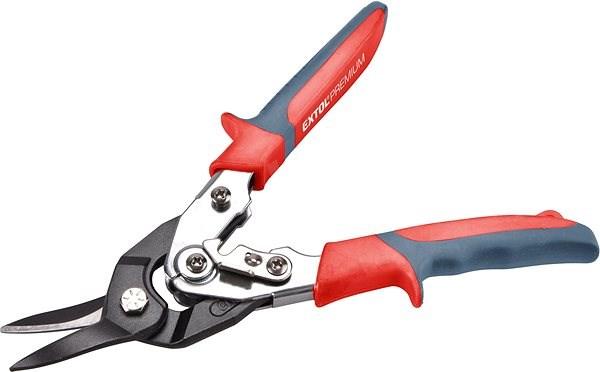 EXTOL PREMIUM nůžky na plech převodové, 255mm, rovně a doleva - Nůžky