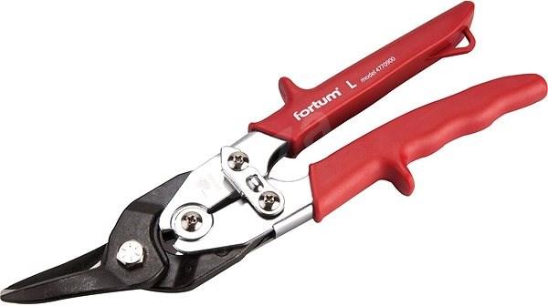 FORTUM nůžky na plech převodové, 255mm, levé - Nůžky