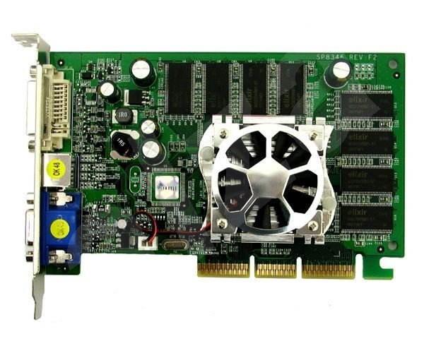 NVIDIAGeForce FX-5700LEV, 128 MB DDR (64-bit), AGP8x, DVI -