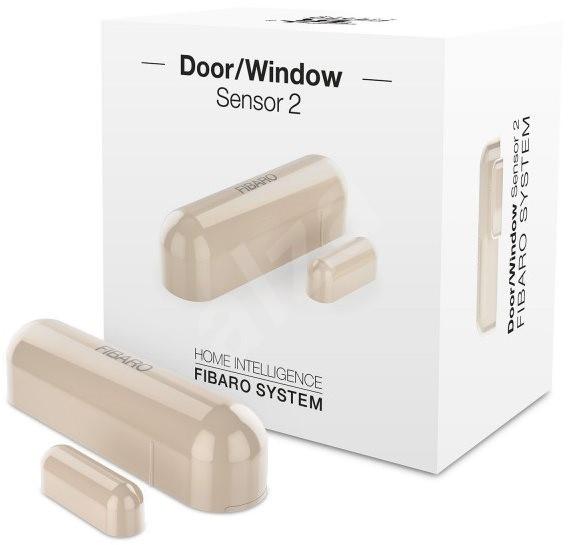FIBARO Senzor na okna a dveře 2 krémový - Senzor na dveře a okna