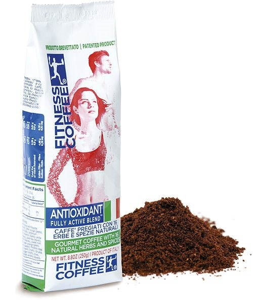 FITNESS COFFEE Antioxidant Fully Active Blend, mletá, 250g - Káva