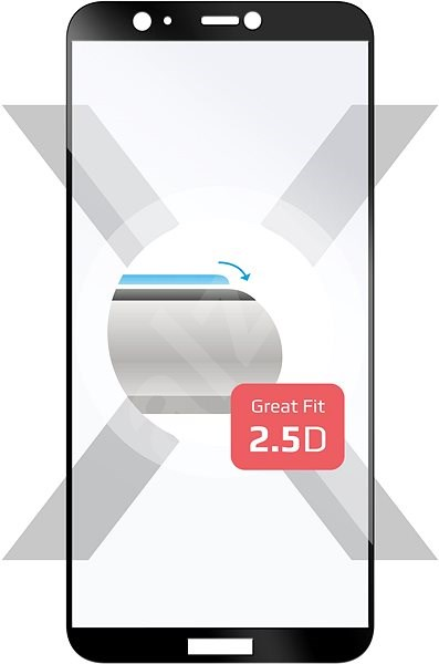 FIXED Full-Cover pro Huawei P Smart (2018) černé - Ochranné sklo