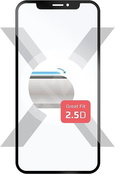 FIXED Full-Cover pro Samsung Galaxy A8 (2018) přes celý displej černé - Ochranné sklo