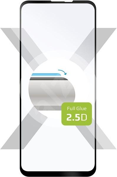 FIXED FullGlue-Cover pro Motorola One Vision černé - Ochranné sklo