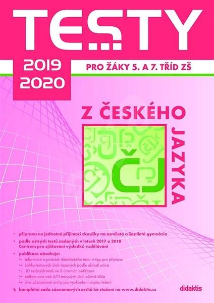 Testy 2019-2020 z českého jazyka pro žáky 5. a 7. tříd ZŠ -