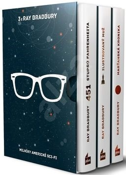 3x Ray Bradbury BOX: 451 stupňů Fahrenheita, Ilustrovaný muž, Marťanská kronika - Ray Bradbury