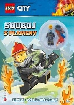 LEGO CITY Souboj s plameny: Komiks, příběh, hlavolamy, obsahuje minifigurku -