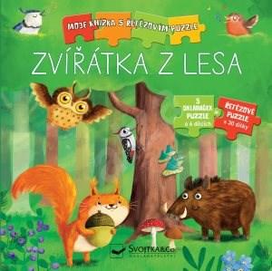Zvířátka z lesa: Moje knížka s řetězovým puzzle - Monika Suska; Carola von Kesselová