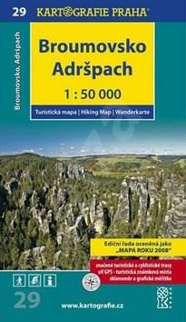 Broumovsko, Adršpach 1:50 000: turistická mapa -