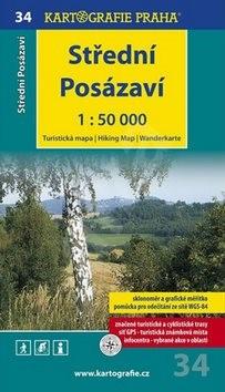 Střední Posázaví 1:50 000: turistická mapa -