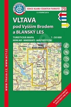 KČT 73 Vltava pod Vyšším Brodem a Blanský Les 1:50 000 -