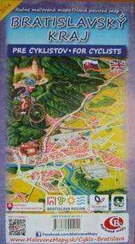 Bratislavský kraj: Ručne maľovaná mapa pre cyklistov Hand painted map for cyclists -
