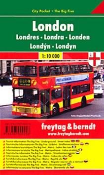 Plán města Londýn 1:10 000: Kapesní lamino -