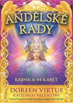Andělské rady: Kniha a 44 karet - Doreen Virtue; Radleigh Valentine; Marius Michael-George