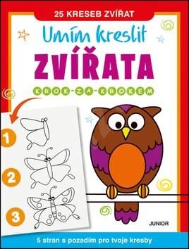 Kniha Umím kreslit zvířata: Krok za krokem -