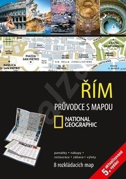 Řím Průvodce s mapou: 12 rozkládacích map -