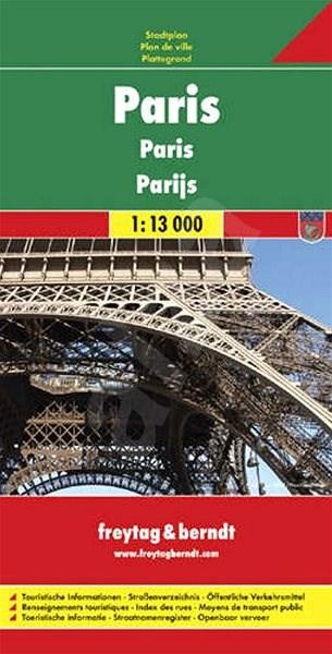 Plán města Paříž 1 :13 000 -