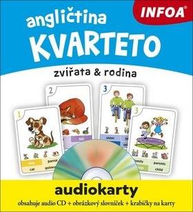 Angličtina kvarteto Audiokarty: zvířata & rodina -