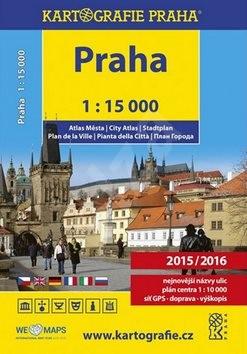 Praha 1:15 000 atlas města -